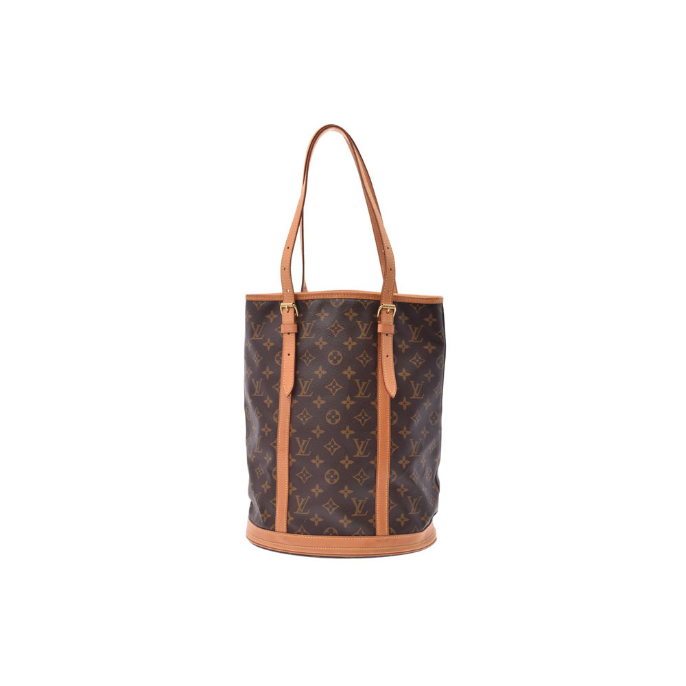 Louis Vuitton Monogram Bucket L Brown M42236 Ladies Handbag AB Rank LOUIS VUITTON With pouch Used silver storehouse