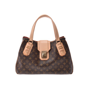 Louis Vuitton Monogram Greet Brown M55210 Women's Genuine Leather Handbag A rank beauty item LOUIS VUITTON Used Ginzo