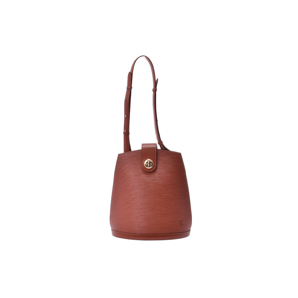 Louis Vuitton Epi Cluny Kenya Brown M52253 Women's Genuine Leather Shoulder Bag New Dope Beauty Product LOUIS VUITTON Used Ginzo