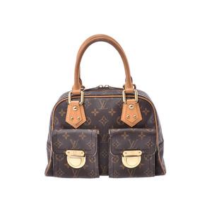 Louis Vuitton Monogram Manhattan PM Brown M40026 Ladies Genuine Leather Handbag B Rank LOUIS VUITTON Used Ginzo