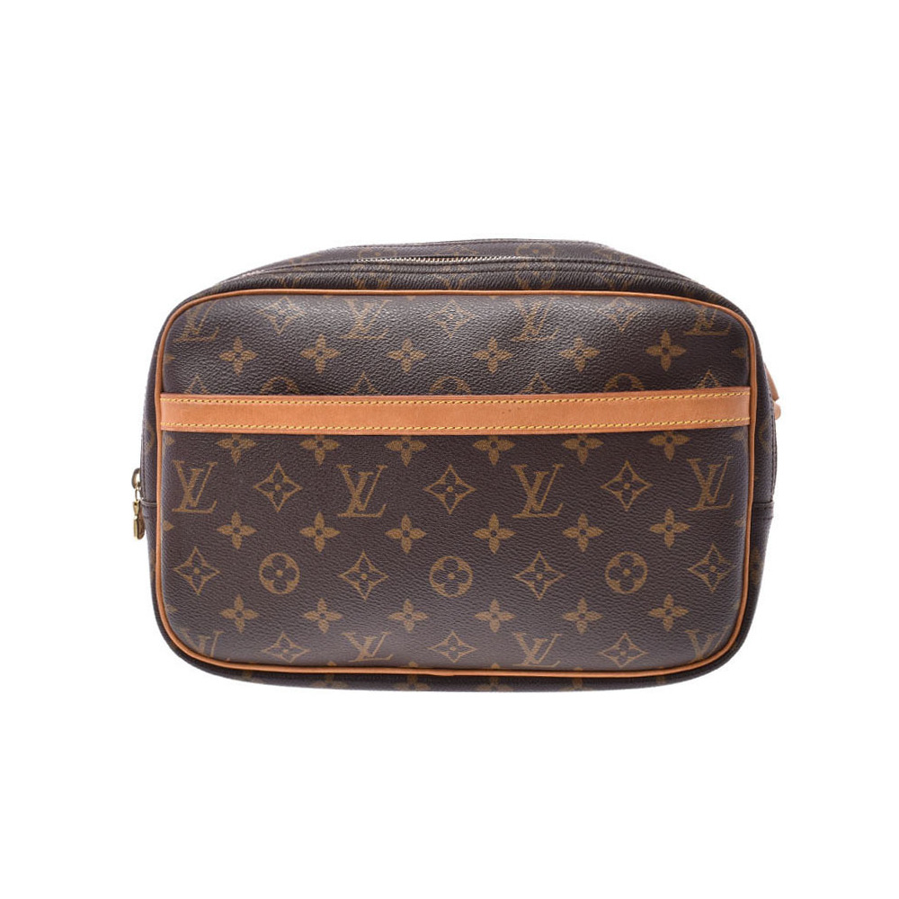 Louis Vuitton Monogram Reporter S Brown M45254 Men's Genuine Leather Shoulder Bag B Rank LOUIS VUITTON Used Ginzo