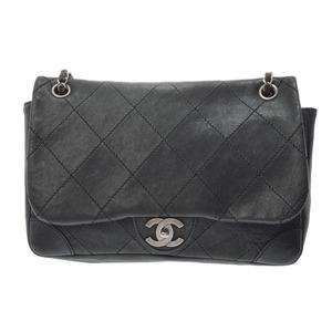 Chanel Matrasse Chain shoulder bag khaki vintage SV hardware Women's caviar skin B rank CHANEL Used Ginzo