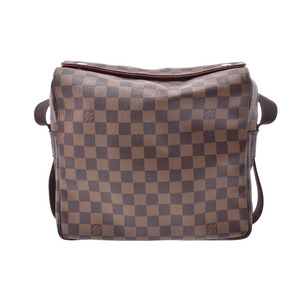 Louis Vuitton Damier Naviglio Brown N45255 Men's Genuine Leather Shoulder Bag B Rank LOUIS VUITTON Used Ginzo