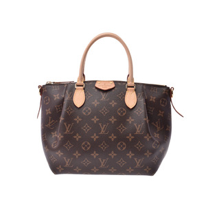 Louis Vuitton Monogram Turen PM Brown M48813 Women's Genuine Leather 2WAY Handbag A rank beauty item LOUIS VUITTON with strap Used silver storehouse