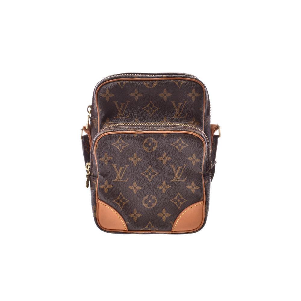 Louis Vuitton Monogram Amazon Brown M45236 Women's Genuine Leather Shoulder Bag B Rank LOUIS VUITTON Used Ginzo