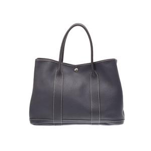 Hermes Garden Party 36 Graphite □ K stamped Ladies Negonda Handbag B rank HERMES Used Ginzo