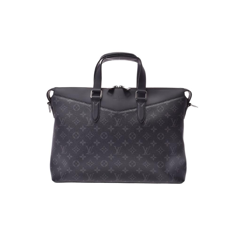 Louis Vuitton Eclipse Explorer Black M40566 Men's Genuine Leather Business Bag Document Unused Beauty Product LOUIS VUITTON Strap Used Ginzo