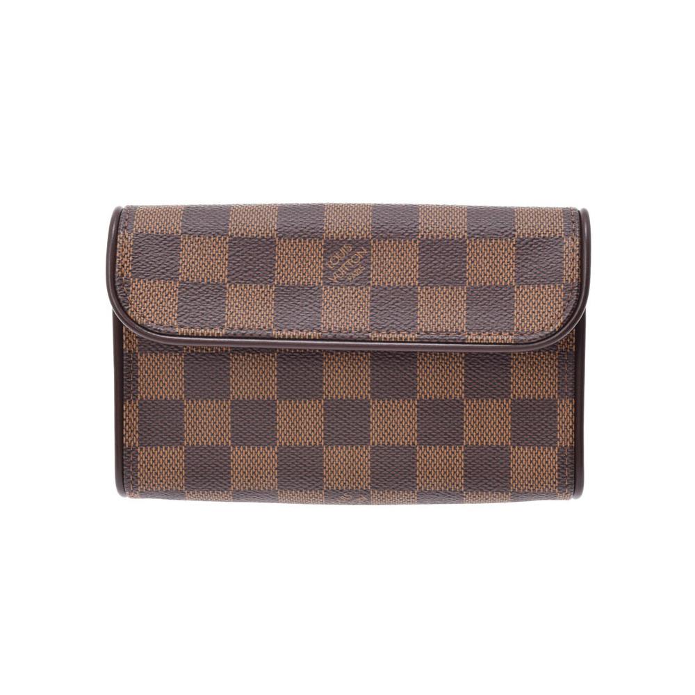 Louis Vuitton Damier Pochette Florentine SP Order Brown N51856 Women's Genuine Leather A Rank LOUIS VUITTON Used Ginzo