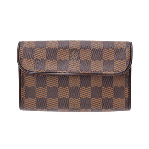 Louis Vuitton Damier Pochette Florentine SP Order Brown N51856 Women's Genuine Leather A Rank LOUIS VUITTON Used Ginzo