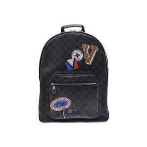 Louis Vuitton Graphite Malzerbeth N51379 Men's Genuine Leather Backpack Rucksack AB Rank LOUIS VUITTON Used Ginzo