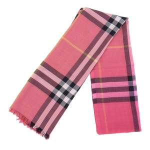 Burberry Wool × Silk Long muffler Stall Current tag House check