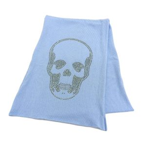Lucian Peraphine Current Tag Swarovski Skull Cashmere 100% Long Muffler Fitting Level Fixed price 280,000 yen