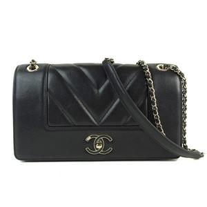 Chanel CHANEL V-stitched Chain Shoulder Bag Diagonal Cross Women's 24th * BG