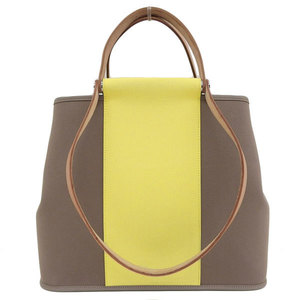 Genuine HERMES Towaruofishe leather bag back PM 2 way tote souffle Etope □ P engraved