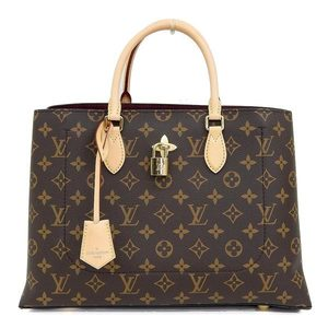 Genuine LOUIS VUITTON Louis Vuitton Monogram Flower 2WAY Tote Bag Model: M43551 Leather