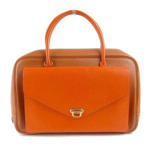 HERMES Hermes Vaugarir Lorraine Handbag By color camel orange □ B engraved bag leather