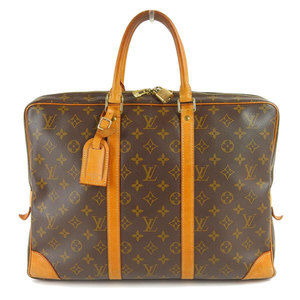 Genuine LOUIS VUITTON Louis Vuitton Monogram Porte de Cumant Voyag Business bag Bag leather