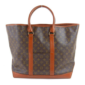 LOUIS VUITTON Louis Vuitton Monogram Weekend Tote Bag Leather