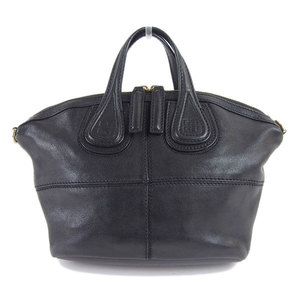 Genuine GIVENCHY Givenchy Nightingale Micro Leather Handbag Black Bag