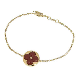 Genuine Louis Vuitton K18YG Monogram Flower Bracelet 6.2g