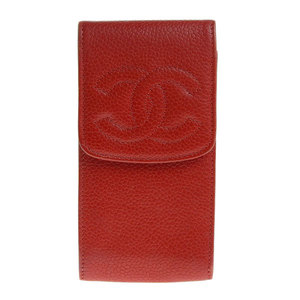 Chanel Coco Mark Caviar Skin Cigarette Case Red 3rd Series