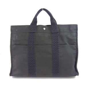 Genuine HERMES Hermes Aleline MM Tote Bag Gray Leather