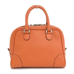 Genuine LOEWE Loewe Amazona 75 2WAY Shoulder Bag Orange Leather