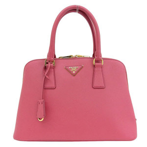 Genuine PRADA Prada Safiano leather 2WAY handbag shoulder pink Model: BL0837 bag
