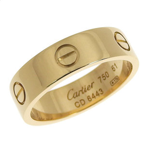 21d9fb2e0 Authentic CARTIER Cartier K18YG Love Ring # 61 21 9.4g
