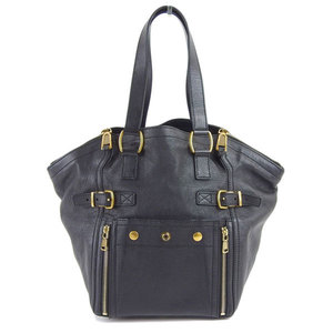 Genuine Yves Saint Laurent Leather Downtown Tote Bag Black 202649/213317