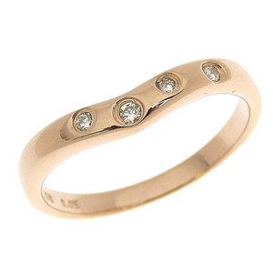 Genuine STAR JEWELRY Star Jewelry K18PG Diamond 0.05ct Ring No. 8 2.2g