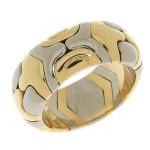 Genuine BVLGARI Bulgari K18 YG SS Albere Ring No. 11 10 g