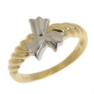 Genuine Christian Dior K18 Platinum Pt900 Ring No.11 3.1g