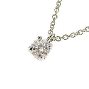 Genuine TIFFANY & Co. Tiffany Platinum Pt950 Solitaire Necklace 2.4g