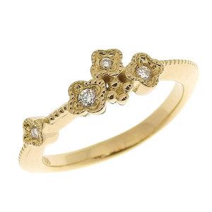 2(x)ist Genuine 4 ° C Jondeshi K18YG diamond ring No. 3 2.2g
