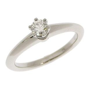 Genuine TIFFANY & Co. Tiffany Platinum Pt950 Diamond 0.18ct Ring No. 9 4.6g
