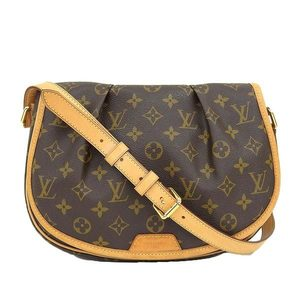 Genuine LOUIS VUITTON Louis Vuitton Monogram Menil Montan PM Model: M40474 Bag leather