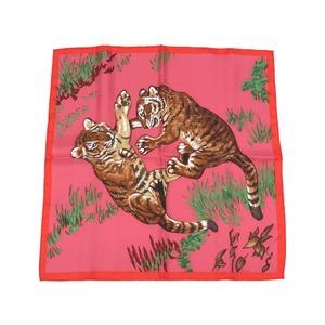 HERMES Petit Carre 45 Silk Scarf Tiger 0074 HERMES