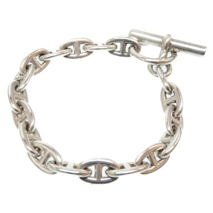 Hermes Silver 925 Chene Dunkle Vintage Bracelet Men's Unisex 0064 HERMES