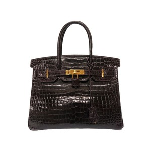 Hermes Birkin 30 Polo Sous Aubergine Gold Hardware X Engraved (made in 2016) Handbag Bag Purple 0007 HERMES