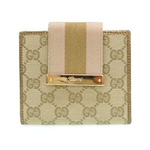 Gucci GG canvas W hook wallet 181669 gold 0096 GUCCI