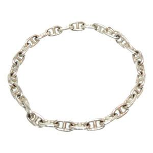 Hermes Vintage Silver 925 Chene Dunkle Bracelet Men's Unisex 0062 HERMES