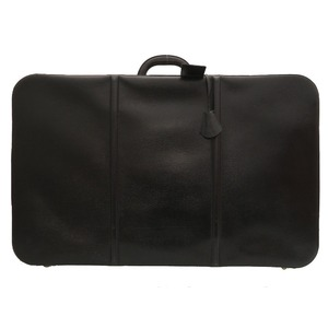 Hermes Antique Trunk Case Leather Black Vintage Bag 0034 HERMES Men