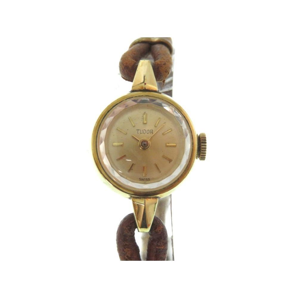 Tudor cut glass antique hand wound watch gold color 0059 TUDOR Women