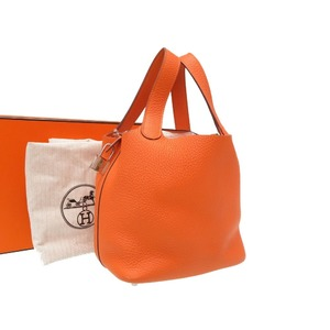Hermes Picotan Lock PM Trillon Clemance Orange Silver hardware □ Q stamped Handbag Bag 0025 HERMES