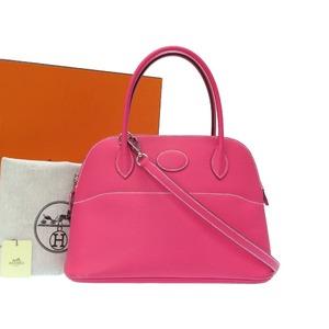 Hermes Bored 27 Vaud Epson Rosetilian Silver hardware □ Q stamped handbag bag 0005 HERMES
