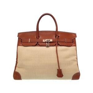 Hermes Birkin 40 Crinolan Vauvarenia Brown □ D stamped Handbag Bag 0024 HERMES Men