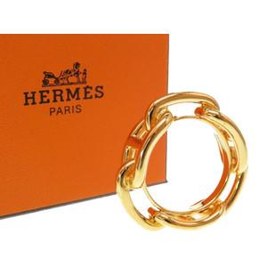 Hermes Schöne Dankle Gold Scarf Ring 0022 HERMES