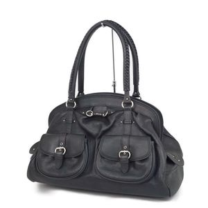 Christian Dior Ladies Leather Handbag Boston Bag Black Made in Italy