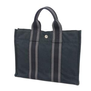 HERMES Made in France Ladies' Fool Totoe PM Handbag Canvas bag Black Ladies Bag 鞄